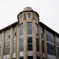 Abandoned casino building